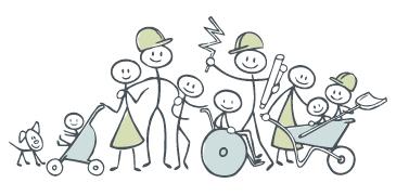 Gemeinschaftlich Bauen und Wohnen - ContemPlan Illustration: Katrin Ehmann calla:design